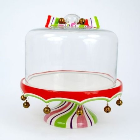 Pedestal Cake Stand With Ridge For Dome To Fit In