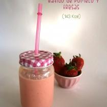 Batido de pomelo y fresas-La Muffinerie.com
