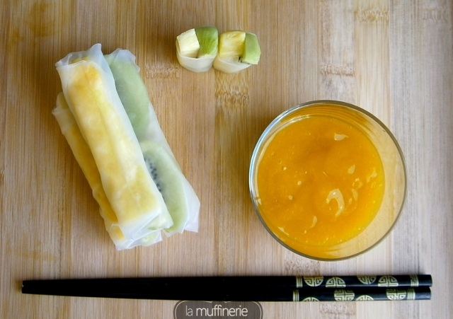 Rollitos de fruta con salsa de mango picante - La Muffinerie.com