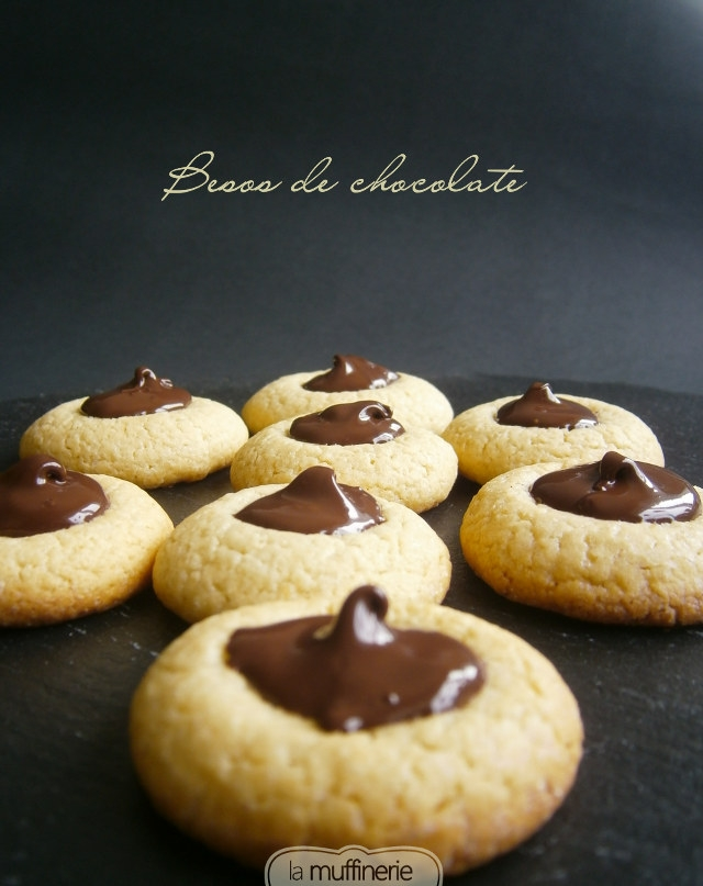 Besos de chocolate sin lactosa- La Muffinerie.com