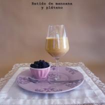 Batido light de manzana y plátano-LaMuffinerie.com