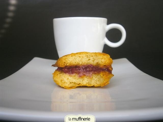 Galletas rellenas de frambuesa- La Muffinerie.com