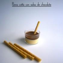 Panna cotta con salsa de chocolate-La Muffinerie.com