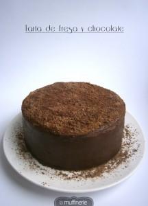 Tarta de fresa y chocolate-LaMuffineire.com